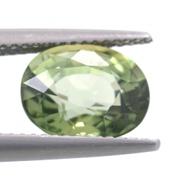 3.48 ct Green Apatite Oval Cut