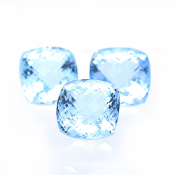 74.82ct Set Blue Topaz...