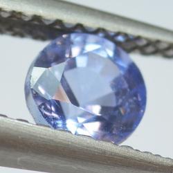 0.76ct Blue Sapphyre Round Cut