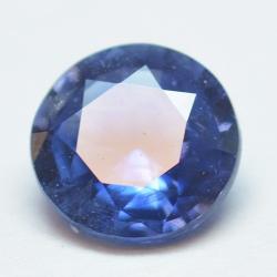 0.60ct Blue Sapphyre Round Cut