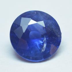 0.69ct Blue Sapphyre Round Cut