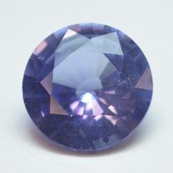 0.80ct Blue Sapphyre Round Cut
