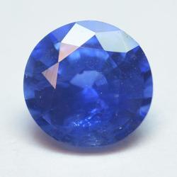 0.51ct Blue Sapphyre Round Cut