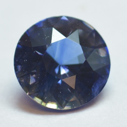 0.53ct Blue Sapphyre Round Cut