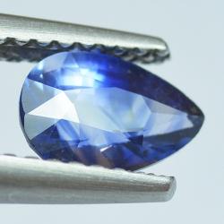 0.99ct Blue Sapphyre Pear Cut