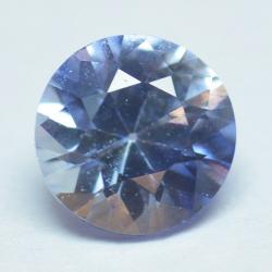 0.53ct Blue Sapphyre Round Cut