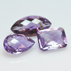 10.99ct Set Amethysts...