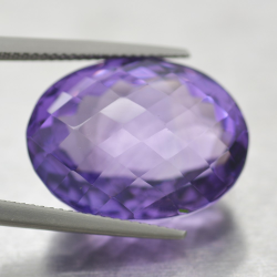 24.38ct Amethyst Oval Cut...