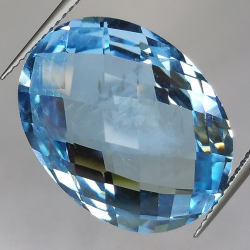 26.33ct Blue Topaz Oval Cut...