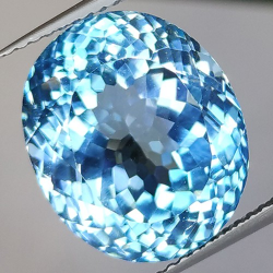 16.85ct Blue Topaz Oval Cut