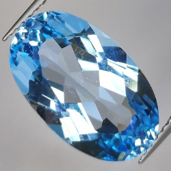 9.67ct Blue Topaz Oval Cut