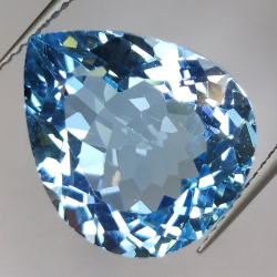 15.12ct Blue Topaz  Pear Cut