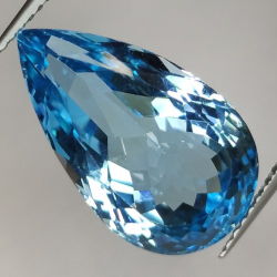 13.30ct Blue Topaz  Pear Cut