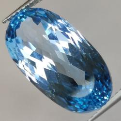 14.50ct Blue Topaz Oval Cut