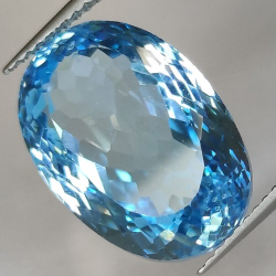 15.78ct Blue Topaz Oval Cut