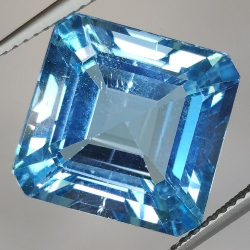 17.59ct Blue Topaz Asscher Cut