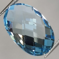 8.83ct Blue Topaz Oval Cut...
