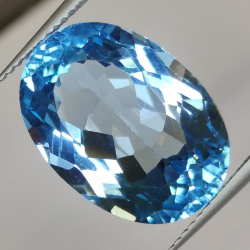17.92ct Blue Topaz Oval Cut