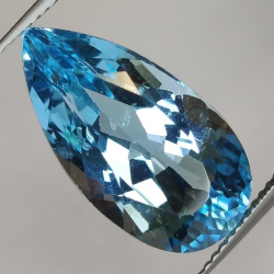 15.71ct Blue Topaz  Pear Cut