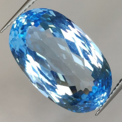 11.51ct Blue Topaz Oval Cut