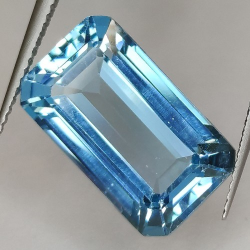 14.16ct Blue Topaz Emerald Cut