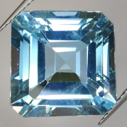 16.12ct Blue Topaz Asscher Cut