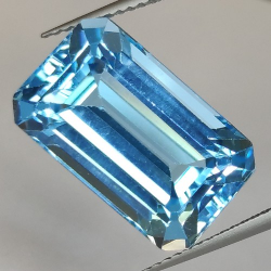 17.31ct Blue Topaz Emerald Cut