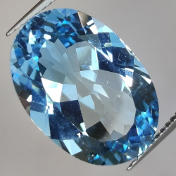 16.14ct Blue Topaz Oval Cut