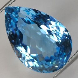 11.90ct Blue Topaz  Pear Cut