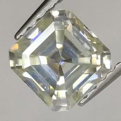 1.02ct Moissanite Emerald Cut