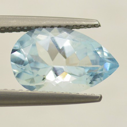 2.67ct Aquamarine Pear Cut