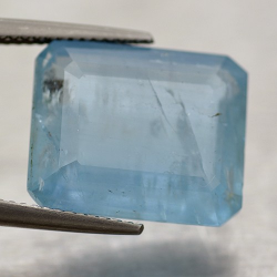 11.87ct Aquamarine Emerald Cut