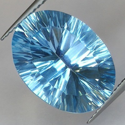 Blue Topaz Millenium Oval Cut