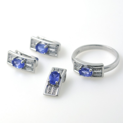 Set of Tanzanite & 925...