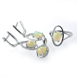 Opal and 925 Silver Set