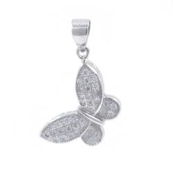 Zirconia Butterfly Pendant...