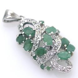 Emerald and Silver 925 Pendant