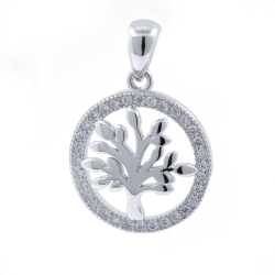 Zircons and 925 Silver Tree...