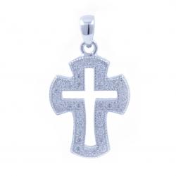 Zirconia Cross Pendant and...