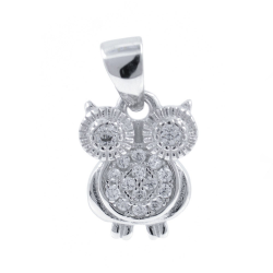 Zirconia and 925 Silver Owl...