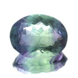 27,27ct. Fluorite Oval Cut