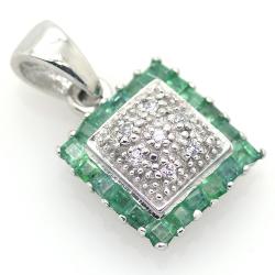 Emerald, Diamonds and 925...