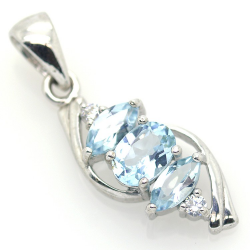 Blue Topaz and Silver 925...