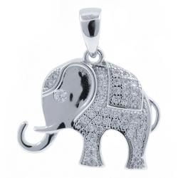Zirconia Elephant Pendant...