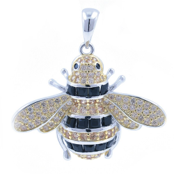 Zirconia and Silver 925 Bee...