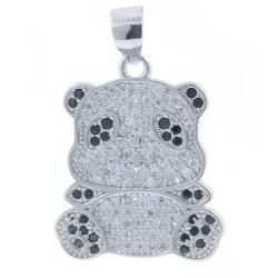 Panda Bear Pendant with...