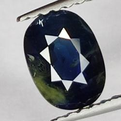 1.01 Oval Cut Blue Sapphire