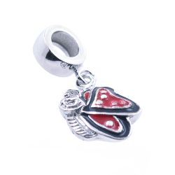 Silver 925 pendant and red...