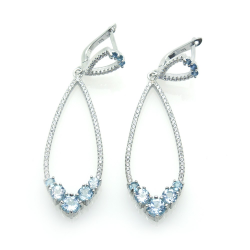 Aquamarine and Silver 925...