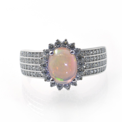 Opal and Silver 925 Ring